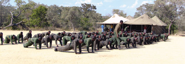 Physical training is part of the paramilitary approach.