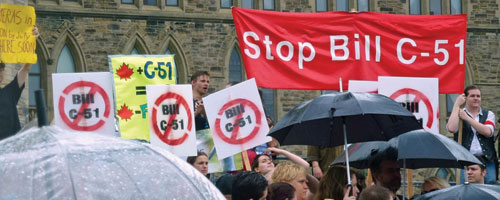 Stop Bill C-51 protest
