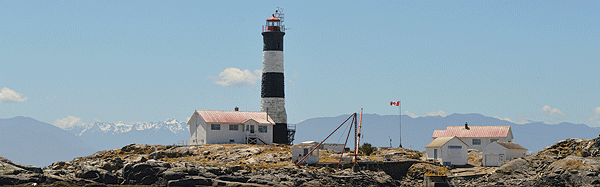 Some 11 nautical miles from Victoria Harbour, British Columbia, the Race Rocks Lighthouse has stood since 1860 as a beacon to warn of dangerous currents at the entrance of the Strait of Juan de Fuca.