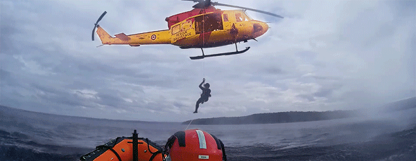 Coast Guard SAR teams exercise with Canadian Armed Forces SAR Technicians to be ready for  all sorts of rescues on the waterways.